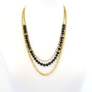 J. Crew Triple Strand Layer Necklace
